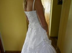 Biała suknia ślubna z gorsetem i bolerkiem, lekka i wygodna !!!