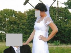 Biała Suknia Ślubna z kolekcji Anny Lachor