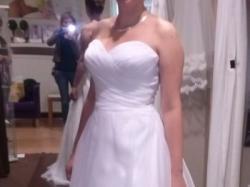 Biała Suknia Sweetheart 5986 38