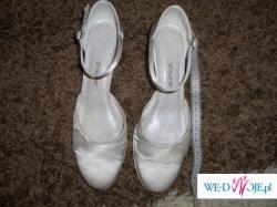 Białe buty rozmiar 38 (rzeczywisty 39)