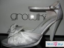 Białe buty ślubne firmy GROWIKAR 36-38