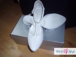 białe buty ślubne  kotyl rozm.38
