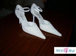 Białe ślubne buciki 38