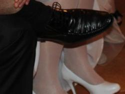 Białe ślubne buciki 39