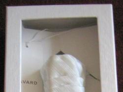 Biały krawat kaskadowy, ślubny z wypustką