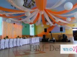 BIM-Dekor studio dekoracji weselnych imprez okolicznościowych !