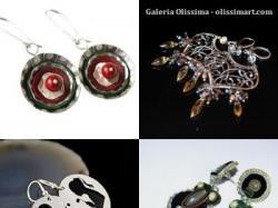 Biżuteria artystyczna, ręcznie robiona - kolczyki z Galerii Olissima