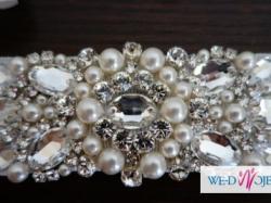 biżuteryjny PAS do sukni ślubnej Svarovski