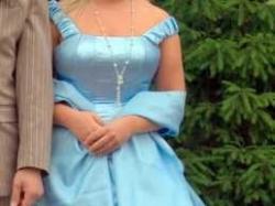 Błekitna suknia balowa/ślubna ubrana tylko raz!!! jak dla księżniczki
