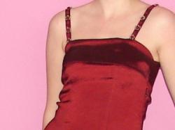bordowa suknia wieczorowa