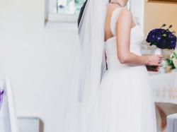 Boska Suknia Ślubna Maggio Ramatti Sposa Princeska 2014 stylowa+GRATIS