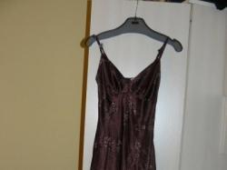 Brązowa suknia wieczorowa, używana tylko raz na studniówce