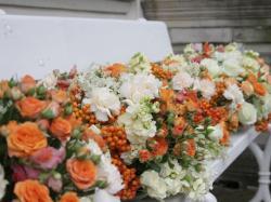 Bukiety i ozdoby ślubne z róż gałązkowych