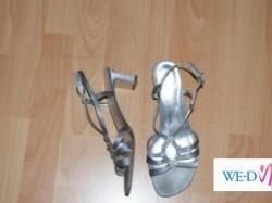 buty popiel + srebro pięknie ozdobione roz. 40