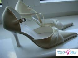 Buty ślubne beżowe