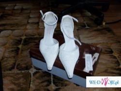 Buty ślubne białe kawior ARTURO VICCI plus dodatki