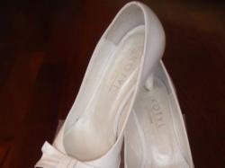 Buty ślubne, białe, Kotyl, skóra naturalna, rozmiar 35