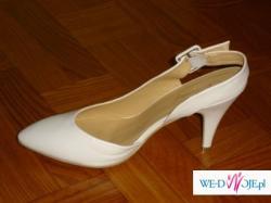 Buty śłubne, białe, nowe
