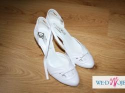 buty ślubne, białe rozmiar 37 - nowe