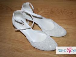 buty ślubne, białe rozmiar 37, raz używane