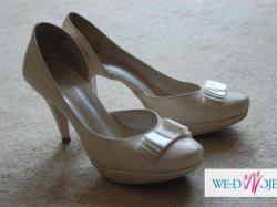 Buty  ślubne BUTDAM rozmiar 39 śmietankowe/ kremowe