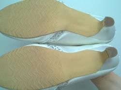 Buty ślubne, czółenka atłasowe
