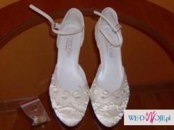 Buty ślubne,ecru,rozmiar 36,obcas 6cm