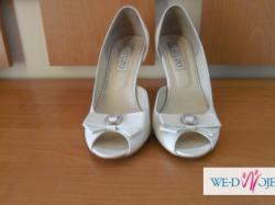 Buty Ślubne GATUZO BIAŁE rozmiar 38 ubrane tylko raz ... Jak nowe :)