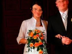 ciążowa suknia ślubna rozm 38