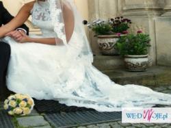 cudna hiszpańska suknia z koronki model White One