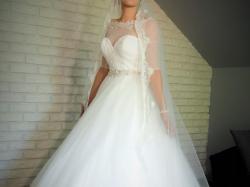 Cudna Suknia Ślubna - 36-38 Demetrios + Gratisy