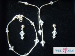Cudny komplet biżuterii ślubnej SWAROVSKIEGO
