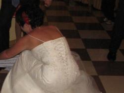 Cudowana suknia ślubna w kolorze kremu. POLECAM!!!