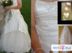 Cudowna i niepowtarzalna suknia ślubna+gratisy