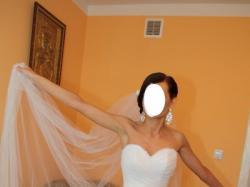 Cudowna i niepowtarzalna suknia ślubna!Welon+Bolerko