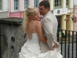 Cudowna, niestandardowa suknia ślubna