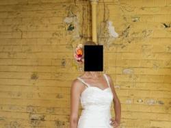 Cudowna Suknia Ślubna 34,36,38 TAFTA BIAŁA Sprzedam lub wypożyczę  :)