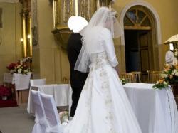 Cudowna suknia slubna Ecru/złota.Zjawiskowa!!