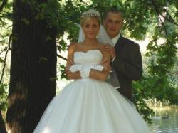 cudowna suknia slubna z kamieniami svarovskiego