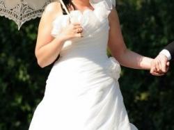 Cudowna suknia ślubna z markowej kolekcji MORI LEE 38/40 + gratisy
