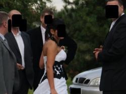 cuuuuudowna suknia biało-czarna