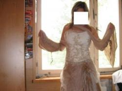 Cymbelline Paris, Śliczna suknia ślubna -toffi+ecru Niedrogo!!!!