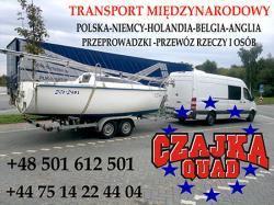 Czajka Quad transport bus Białystok-Anglia Londyn Manchester