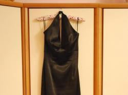 czarna dluga suknia wieczorowa Sylwester/Studniówka/wesele