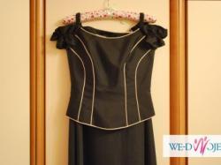czarna suknia balowa Sylwester/Studniówka/wesele