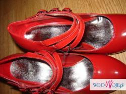 czerwone buty nowe 38 lakierowane