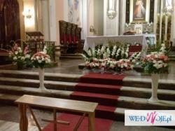 Dekoracja Kościoła Na ślub Tanio Dekoracje Weselne Ogłoszenie