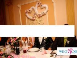 dekoracja na ślub - 2 piękne serca