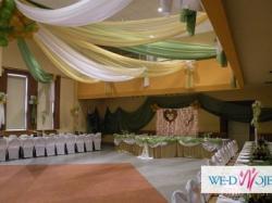Dekoracja sali weselnej, wystrój sali i kościoła.Atrakcyjne ceny!!
