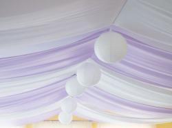 Dekoracja sufitu atłas satyna wrzos jasny fiolet 9 metrów!!!
